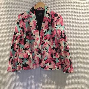 Black label by Evan  Picone floral jacket